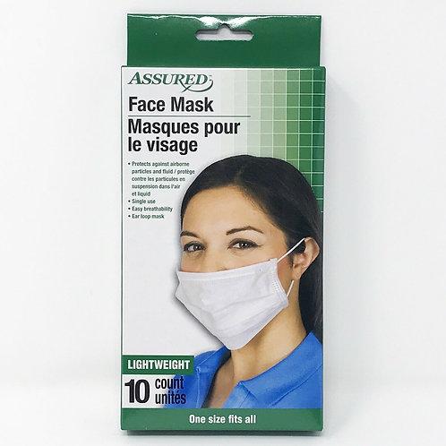 10 Pics Assured Face Mask / Masques pour le visage
