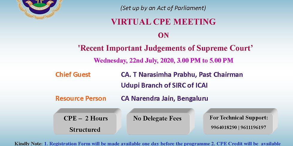 Virtual CPE Meeting