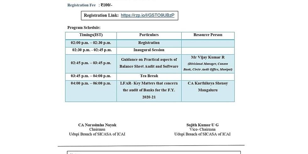 Bank Branch Audit Seminar for CA Students