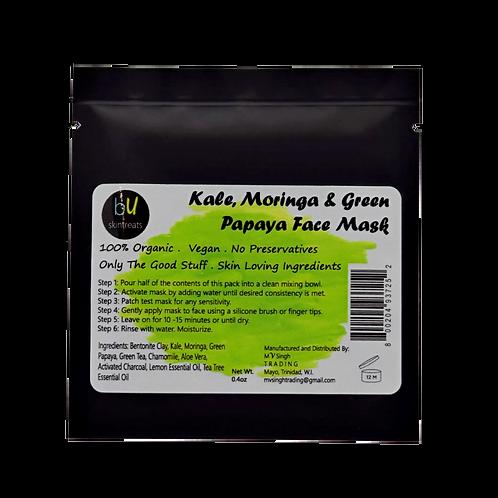 Kale, Moringa and Green Papaya Face Mask