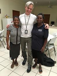 GDK with staff of Healing Hands Of Haiti