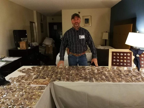 Our stand in Rocky Mountain Leather Trade Show may 2018, Sheridan, Wyoming