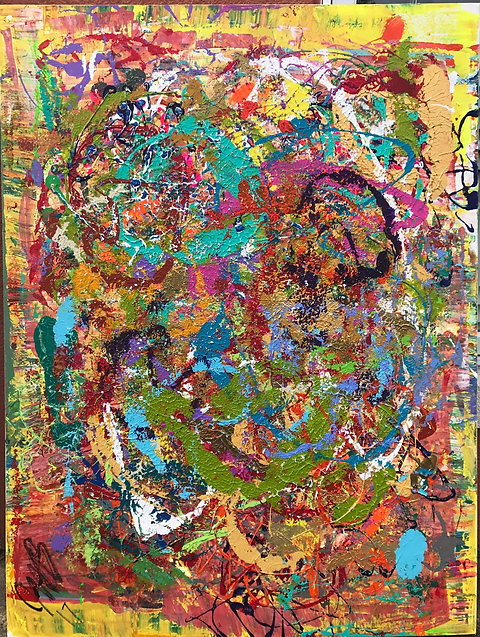 Fine Art Jazzy Kat Abstract Painting