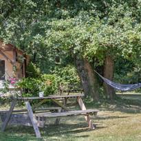 Garten der Gite au Lac - Les Cabanes de Rouffignac