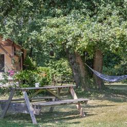 Jardín de la Gite au Lac - Les Cabanes de Rouffignac