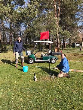 Nieuwe vlaggen op de golfbaan - Les Caba