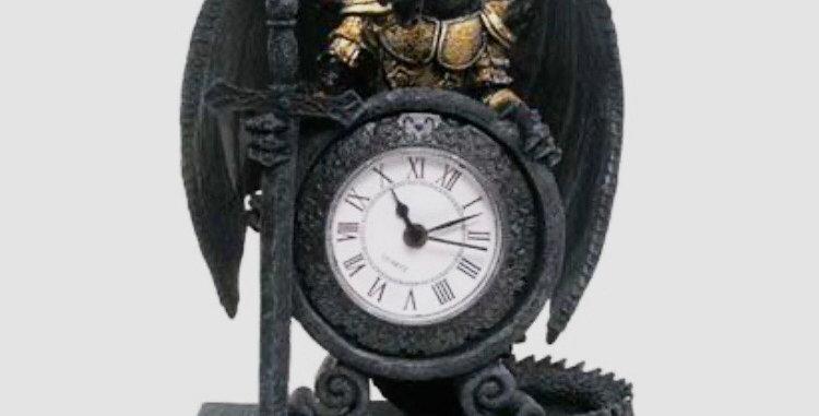 Dragon in Armour Clock