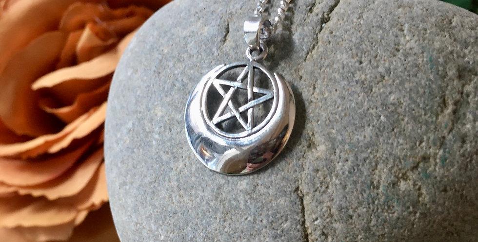 Lunar Priestess Pentacle Pendant