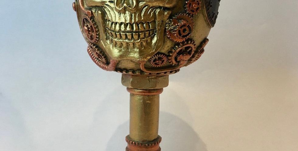 Steampunk Skull Chalice