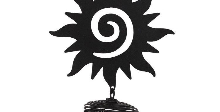 Black Sun Cutout Chime