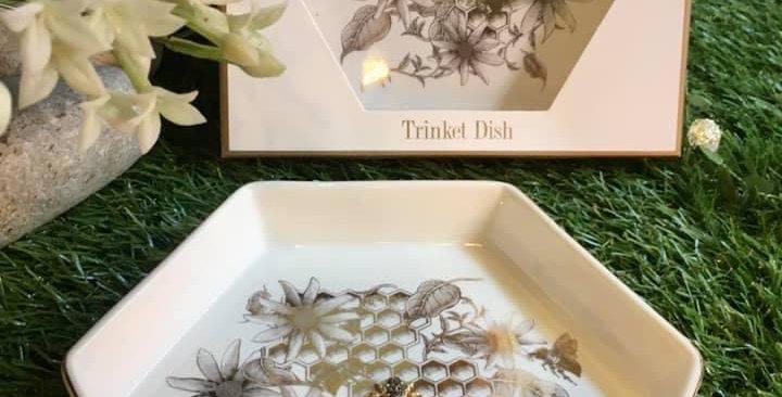 Honeycomb Bees Trinket Dish