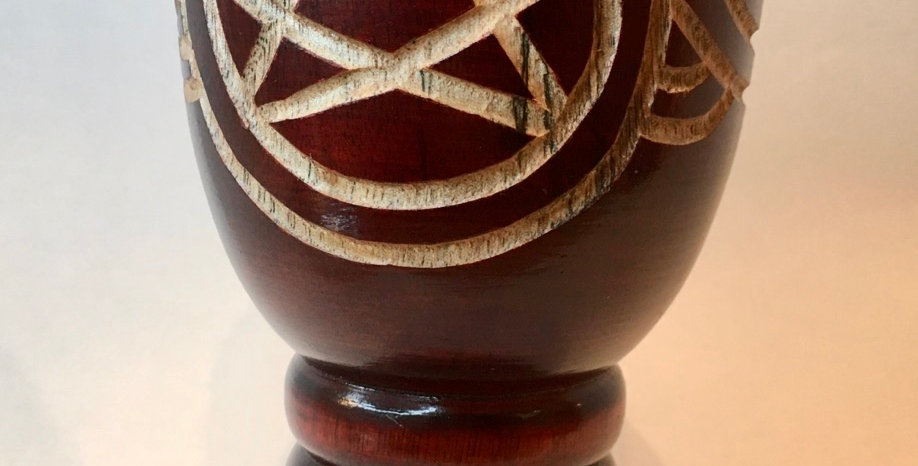 Hand Carved Pentacle Chalice