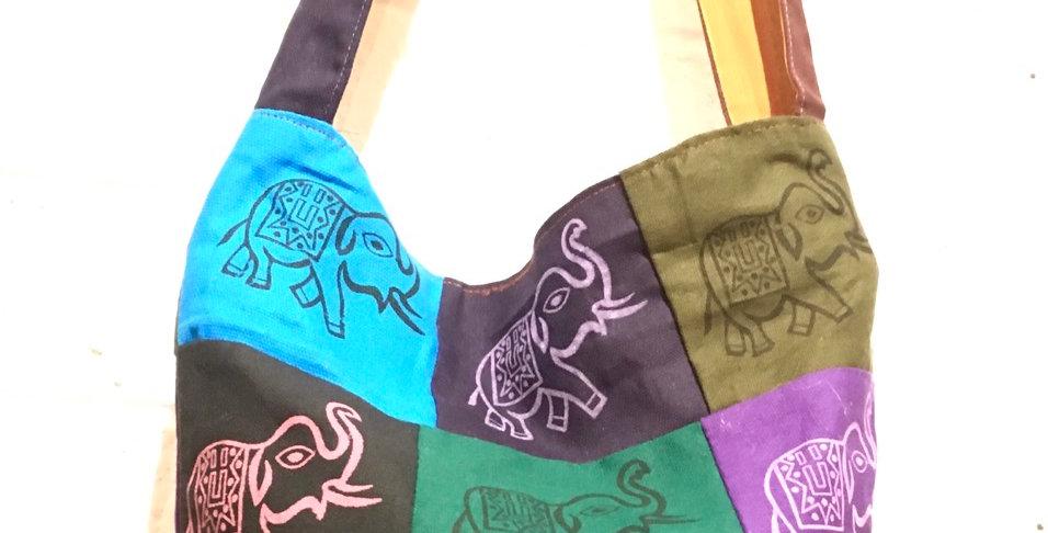 Elephant Patchwork Shoulder Bag