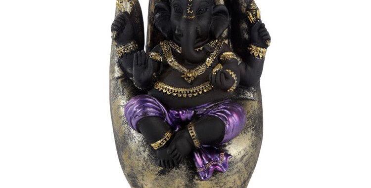 Purple Ornate Ganesh in Hand