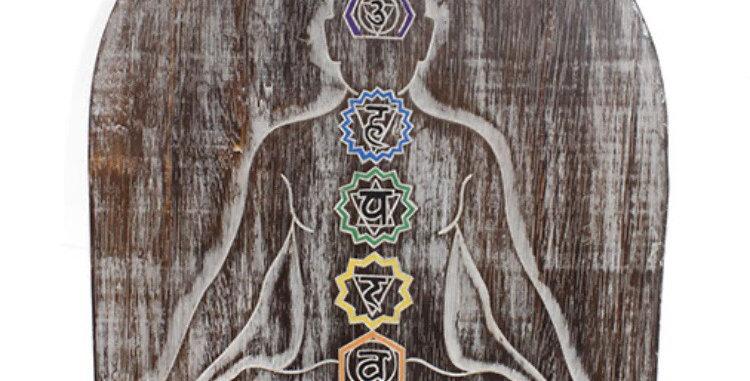 Rustic Meditation Chakra Plaque