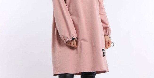 Soft Pink Rock & Roll Sweater Dress