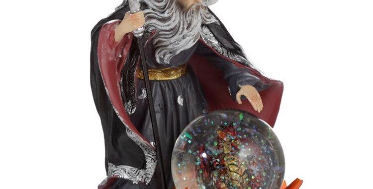 Sorcerer of Fire Dragon Snowglobe