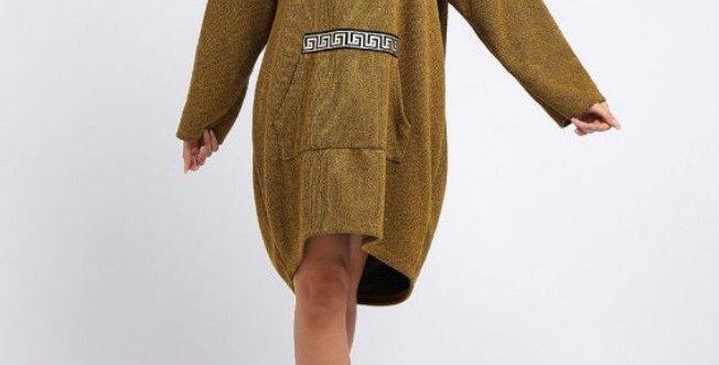 Mustard Knitted Lagenlook Dress