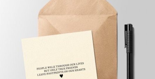 Footprints on our Hearts Greeting Card