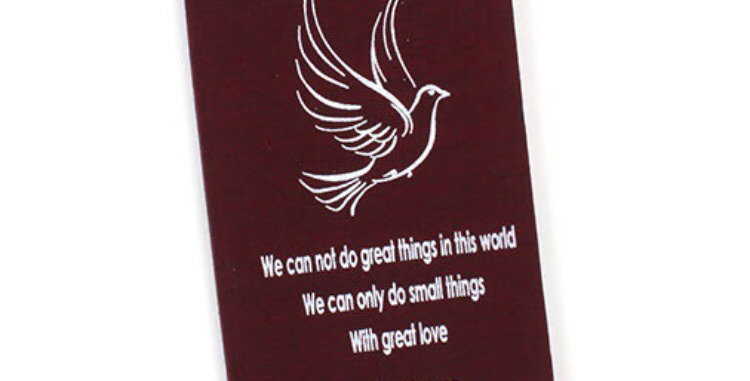 Mother Theresa Affirmation Notebook