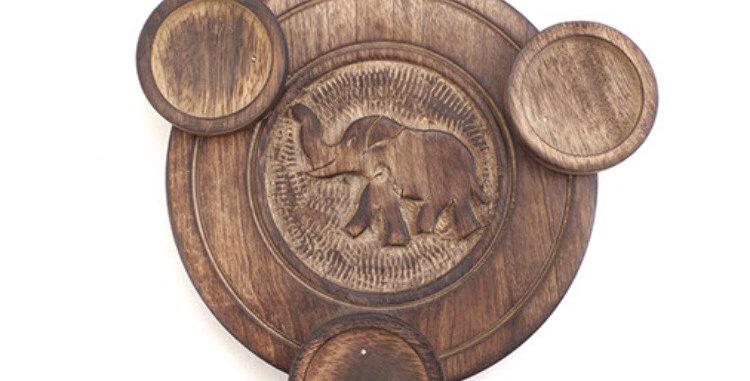 Elephant Triple T-Light Holder
