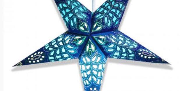 Butterfly Blue Star Lantern