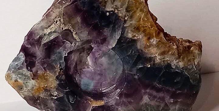 Rainbow Fluorite T-Light Holder