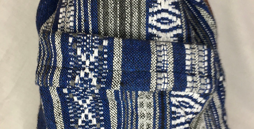 Blue Thai Weave Backpack