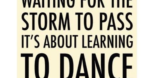 Dance In The Rain Metal Sign