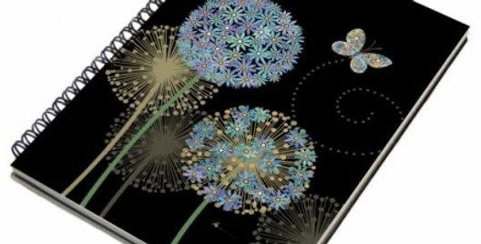 Flowers & Butterfly A5 Notebook