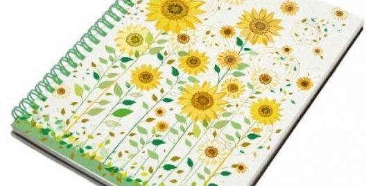 Turnowsky Sunflowers Spiral A6 Notebook