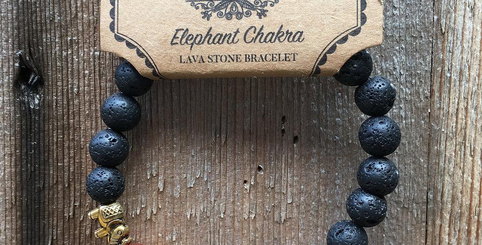 Chakra Crystal & Lava Stone Bracelet