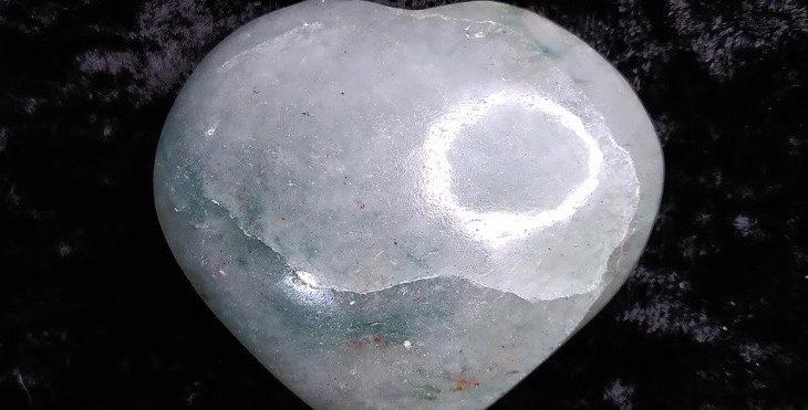 Green Chalcedony Heart