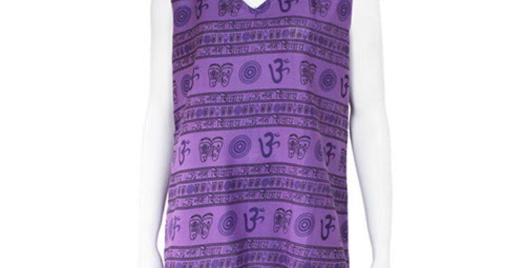 Sleeveless Purple Om Top