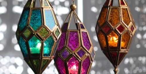 Moroccan Hanging Glass Lantern