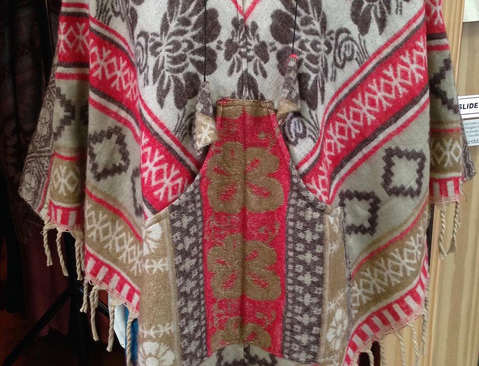 Fleece Poncho - One Size