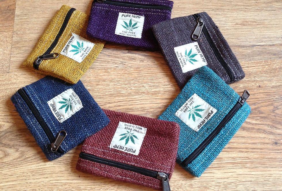 Hemp purse - zip