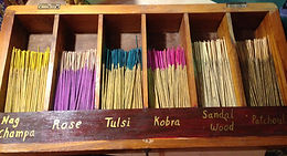 Hand-made incense - India .