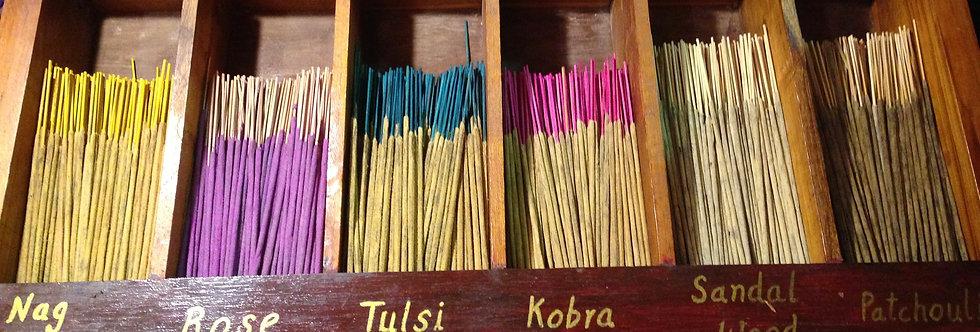 Hand-made incense -India .