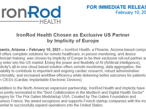 IronRod Health Chosen as Exclusive US Partner