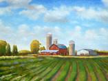 Farm with Three Silos