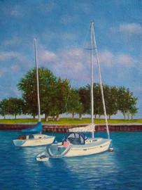 Boats on Lake Michigan