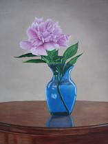 Peony in Blue Vase