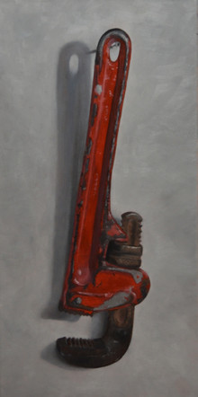 Red Pipe Wrench