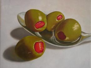 Olives on Spoon
