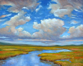 1a) Big Sky and River 16 x 20 oil on canvas.JPG