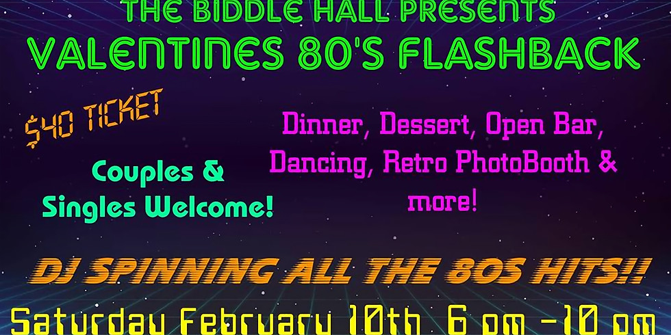 Back To The 80s Valentines Bash!