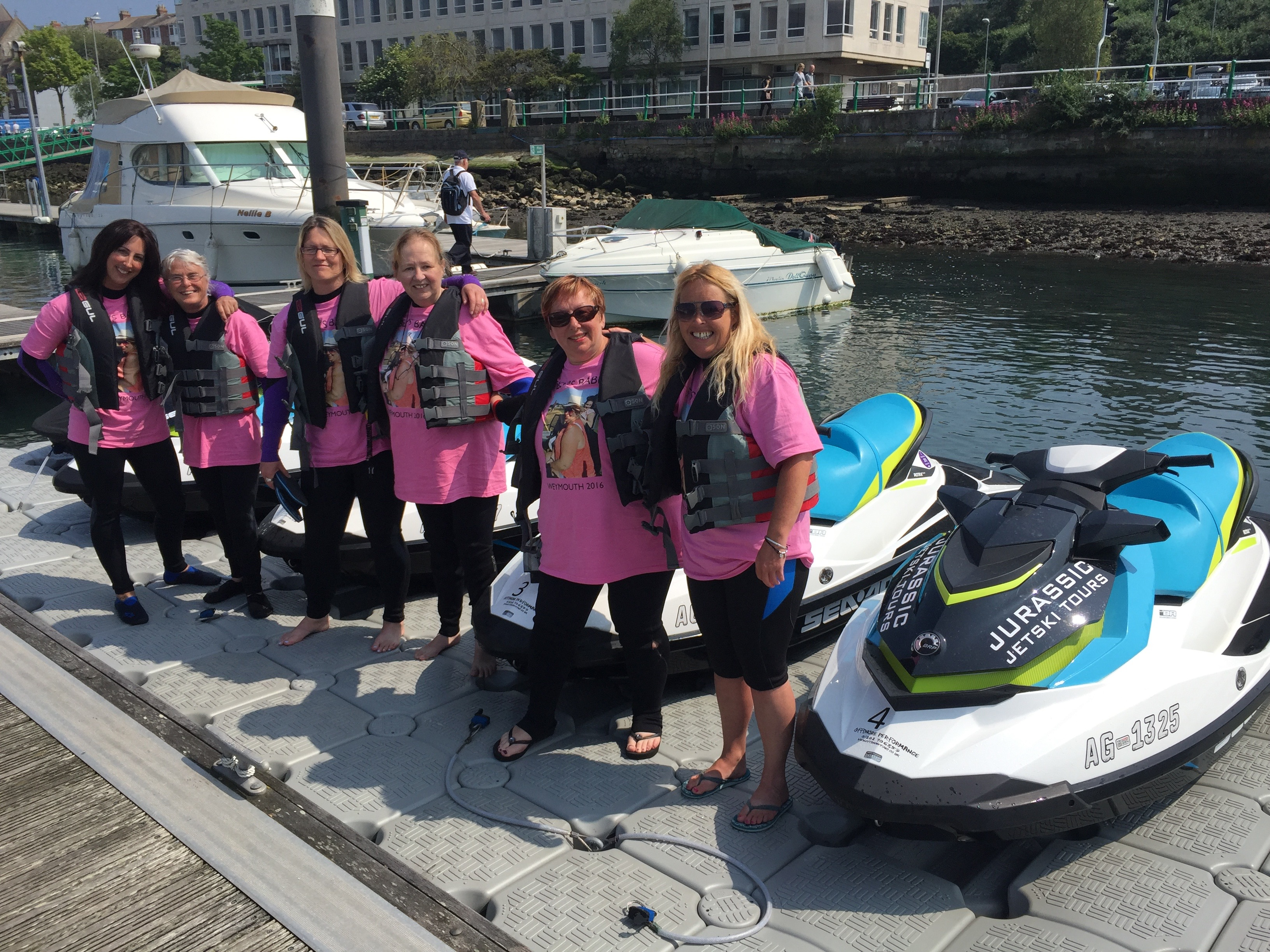 Hen Party Activities Jurassic Jet Ski Safari Tours Weymouth Dorset