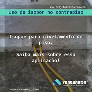 Uso de isopor no nivelamento de piso