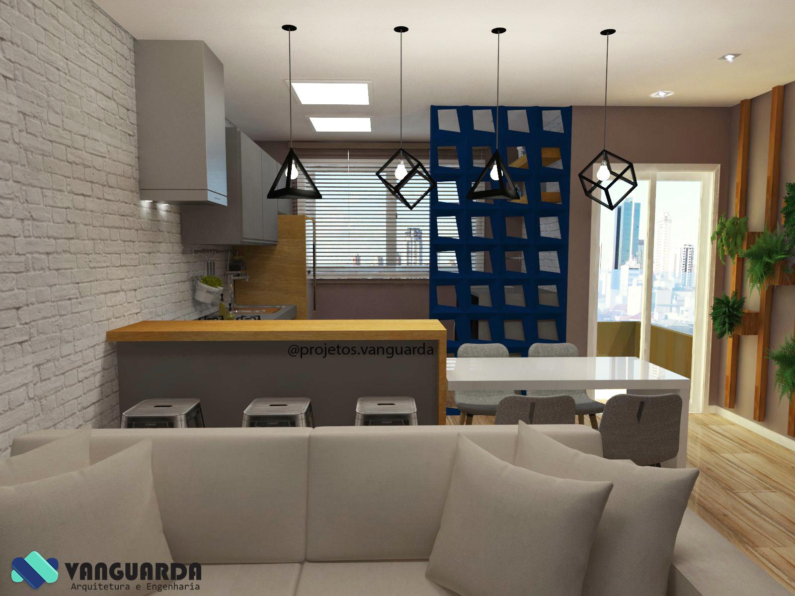 Cozinha Com Sala Conjugada Resimden Com -> Cozinha Com Sala Conjugada